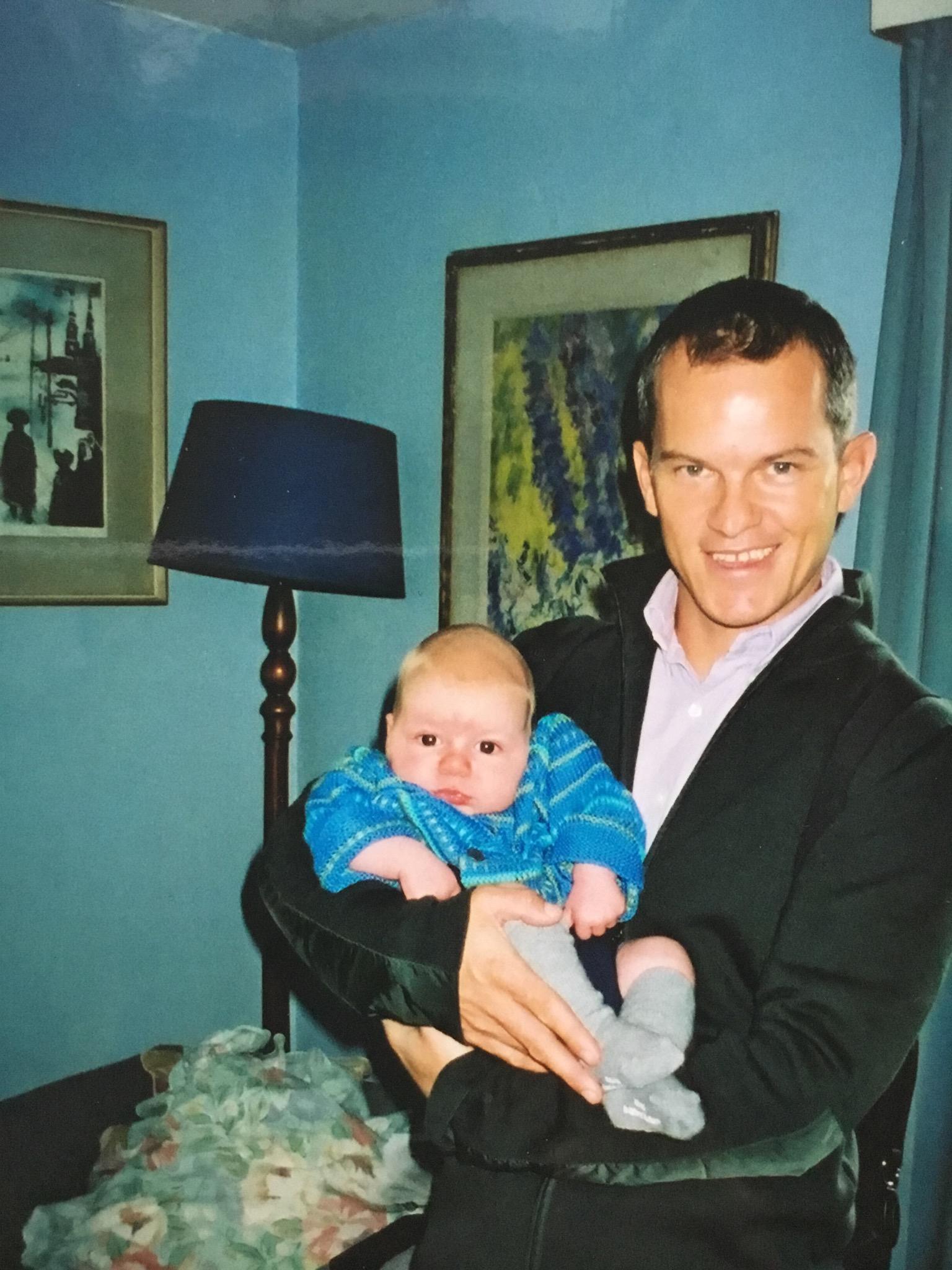 David and Alexander his godson, happier days